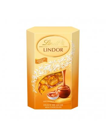 LINDT LINDOR COR DOCE LEITE 8X200G (32)
