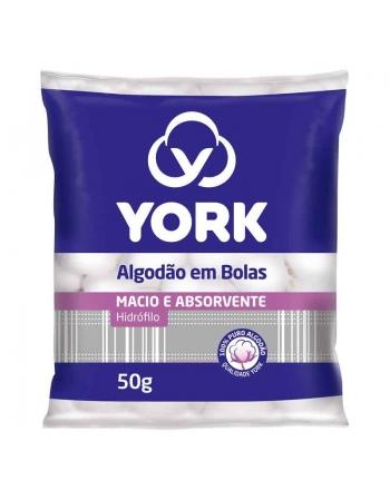 YORK ALGODÃO EM BOLAS 50g